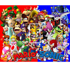 Super Mario/Sonic Light Switch Sticker Kids/Bedroom #170