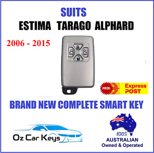 SUITS TOYOTA ESTIMA ALPHARD TARAGO REMOTE SMART PROXIMITY KEY LESS 2006 - 2015