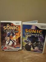 Sonic Unleashed & Secret Of The Rings Complete Nintendo Wii Lot Bundle