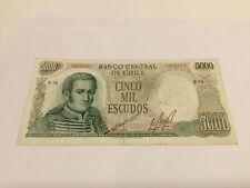 Chili 5000 escudos 1967 Bankbiljet