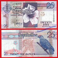 SEYCHELLES ISLAS 25 Rupees rupias 1998 (2005) Pick 37 SC / UNC