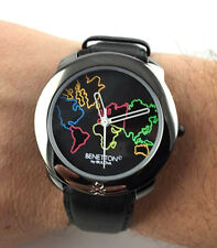 Orologio BENETTON Bulova MAP OF WORLD MOD.DEP WATCH NOS VINTAGE QUARTZ RELOJ new