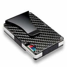 Stainless Steel Purse Metal Wallet Money Clip Carbon Fiber Credit Card Holder