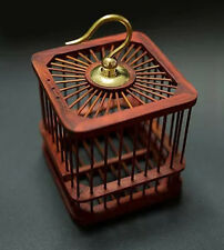 Chinese Handmade Sandalwood Cricket Wooden Cage Grasshopper Cage container coop