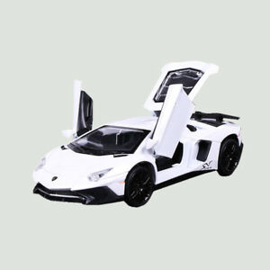 1:32 Lamborghini Aventador LP750-4 SV Car Model Toy Vehicle Metal Diecast White