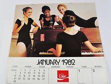 Belle Ancienne Coca-Cola Calendrier 1982 USA Coke Calendrier