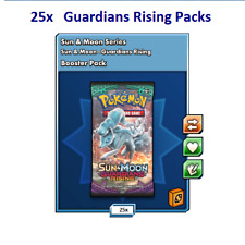 25x Guardians Rising Packs Pokemon Online in-Game No Codes within 12 Hours!
