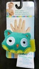 Honey Bunny Wrist Rattle Bracelet Aqua Blue Owl BTB2 NWT