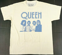 QUEEN Rock Band T-shirt Distressed Licensed Tee Adult XL Vintage White New