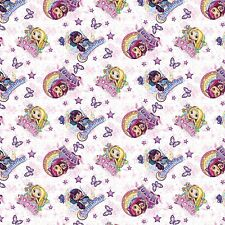 "1 yard Springs Nelvana  ""Little Charmers"" Friends Fabric"
