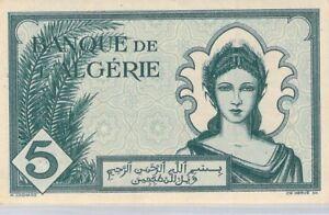Algérie 5 Francs 16.12.1942 M.538 n°507 Pick 91