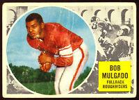 1960 TOPPS CFL FOOTBALL 59 BOB MULGADO ROOKIE VG SASKATCHEWAN ROUGHRIDERS RC