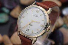 Vintage MOVADO Factories Day Date Bumper Automatic Cal. 118 14K Bezel Watch
