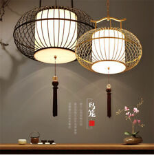 Chinese style Iron birdcage Chandelier Ceiling Lamp Pendant Light LED Lighting