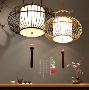 Chinese style Iron birdcage Chandelier Ceiling Lamp Pendant Light LED Lighting
