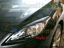 09 10 11 12 13 Mazda3 Front Headlight Eyebrows Eyelids Mazda 3 ABS 2mm 4D 5D