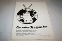 Vintage Catalog #548 - 1977 EURASIAN TRADING INC - costume jewelry catalog