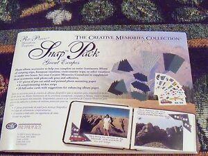 Creative Memories Snap Pack--Great Escapes~Plane,Car,Travel Accessories NIP/NLA