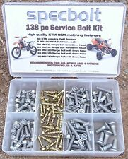 Specbolt's 138pc EURO Bolt Kit KTM 65 85 125 250 300 350 450 SX EXC MXC XC ATV