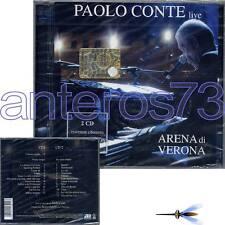 """PAOLO CONTE """"LIVE ARENA DI VERONA"""" RARO 2 CD 1A STAMPA 2005 + INEDITO- SIGILLATO"""
