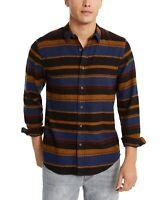 American Rag Mens Shirt Yellow Blue Size XL Button Down Fay Striped $45 055