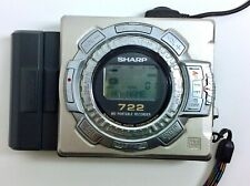 Sharp Portable MiniDisc Recorder Md-Ms722 with expandable Aa battery pack