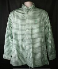 Coolibar Vented Button Up Shirt Mens Size Small Green White Plaid Sun Protection