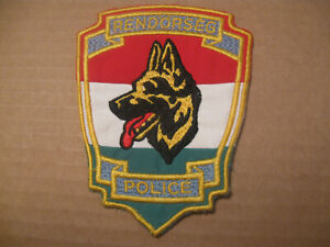 HUNGARY K9 POLICE PATCH