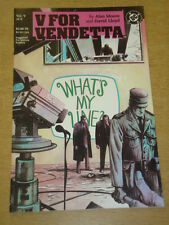 V FOR VENDETTA #5 DC COMICS ALAN MOORE DAVID LLOYD DECEMBER 1988 X