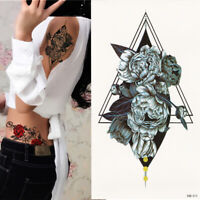 Geometrie Blume Einmal Tattoos Temporäre Tattoo Body Sticker 21x11cm