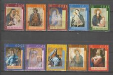 S37812 Vatican MNH 2002 Madonna Paintings 10v