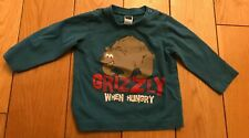 Turquoise Grizzly When Hungry M&Co T-shirt Size 9-12 Months