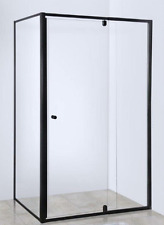 WHOLESALE PRICE!!!!! MATTE BLACK SHOWER SCREEN 900MM : $299