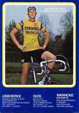 JOS VAN DE POEL IJSBOERKE WARNCKE 79 Signed Autographe cycling Signé cyclisme