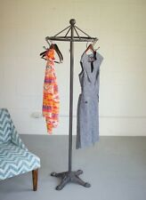Antique Style Iron Spinning Clothes Rack Industrial Garment Stand Decor Coat Hat