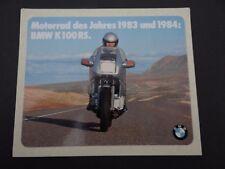 Aufkleber BMW K 100 RS Ziegelstein Motorrad des Jahres 1983 Oldtimer Sticker