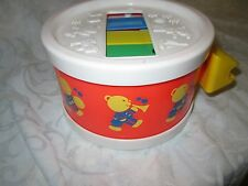 VINTAGE 1976 FISHER PRICE Drum MUSICAL TOY #421 Xylophone Toy Part Teddy Bear