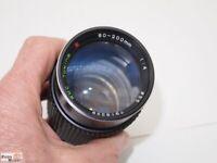 Tele-Zoom Objektiv Tokina RMC 80-200 mm f/4,0 für Fuji ST901, 801 SLR F/ST M-42