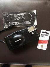 Olympus Xa 35mm Rangefinder Film Camera with A11 Flash w/ Manual