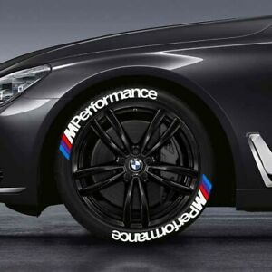 """Tire Lettering stickers  BMW M performance  1.25"""""""