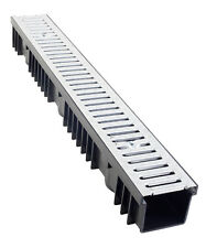 A15 Drainage Channel x 1m with Galvanised Grating - pack of 5 lengths