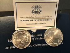 2001 D Buffalo Commemorative Silver Dollars  (2) COINS ,SAME DAY SHIPPING 📬