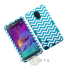 Samsung Galaxy Note 4 TUFF Hybrid Case Blue Wave/Tropical Teal Case Cover Shell