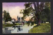 112416 AK Gera 1916 Elsterpartie Brücke Reservelazarett Abt. Turnhalle