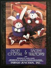 Pattern Primitive Bunny Rabbit Doll Boy & Girl Uncut Oop Indygo JunctIon Rare