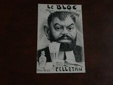 ORIGINAL LEON ROZE SIGNED POLITICAL PROPOGANDA POSTCARD - LE BLOC PELLETAN.
