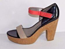 Fergalicious Ankle Strap Platform Pumps Beige, Black, Pink Size 10