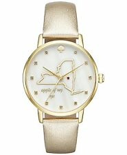 Kate Spade New York Women's Metro New York Gold Tone Leather Watch KSW1298