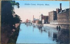 Holyoke, MA 1908 Postcard: Middle Canal - Massachusetts Mass