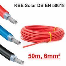 "Solarkabel, 1 x 50m, 6mm² ROT, neueste Norm ""EN 50618"", KBE, Deutschland"